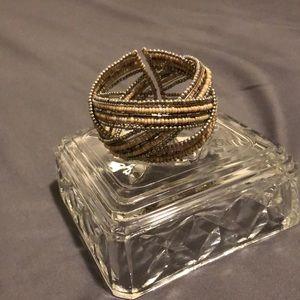 Multi band bead/sterling silver bracelet